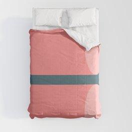 Cylinder Blue Pink 02 Comforters