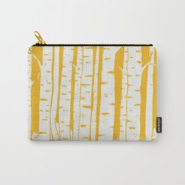Birch forest in yellow Carry-All Pouch