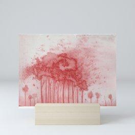 Forest in sand storm Mini Art Print