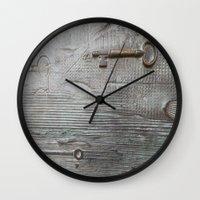 key Wall Clocks featuring key by Joan-Ma Espinosa