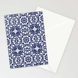 Navy Tile Stationery Cards