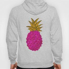 Pink Geometric Party Pineapple Illustration Hoody