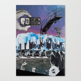Dystopian Egg Hatching Canvas Print