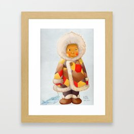 a child being lost in thought Framed Art Print