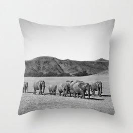 Desert Elephants Throw Pillow