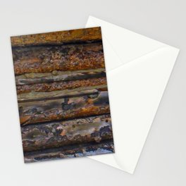 Aged Log Cabin rustic decor Stationery Cards