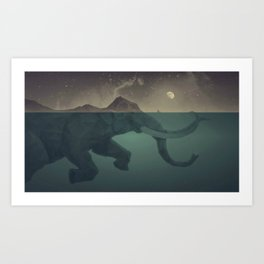 Elephant mountain Art Print