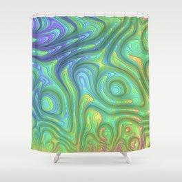 Flow by Amanda Martinson Shower Curtain