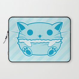 Blue Kawaii Cat Macaroon Laptop Sleeve