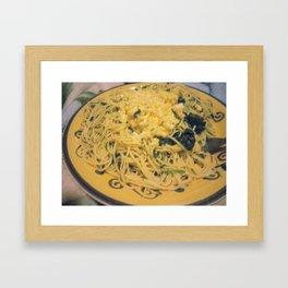 Food Art Collaboration Framed Art Print