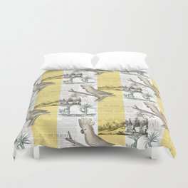 Vintage Tropical Cockatoo Pattern Duvet Cover