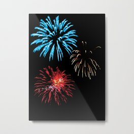 Patriotic Fireworks Metal Print