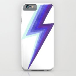 Lightning Bolts - Purple and Blue iPhone Case