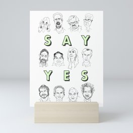 Ancient Aliens - Cast of Caricatures - Say Yes Mini Art Print