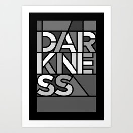 Darkness - Stained Glass Art Print