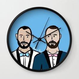 Beard Boy: Albert & Lucho Wall Clock