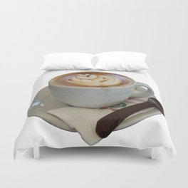 Americano Coffee Vector Duvet Cover