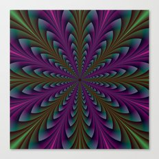 Spear Points in Purple and Green Canvas Print