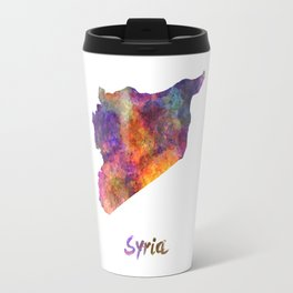 Syria in watercolor Travel Mug