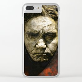 Ludwig van Beethoven (1770-1827) by Franz von Stuck (1863 - 1928)(1) Clear iPhone Case