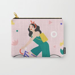 Racing bike girl Carry-All Pouch