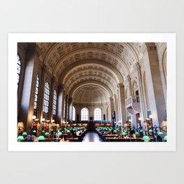 Boston Public Library Art Print