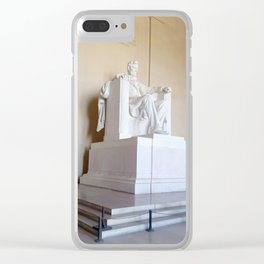 Abe lincoln photography Clear iPhone Case