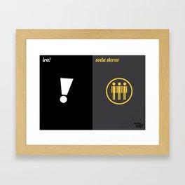 Ira! x Soda Stereo Framed Art Print