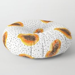 Papaya vibes Floor Pillow