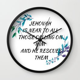 Jehovah rescues us Wall Clock