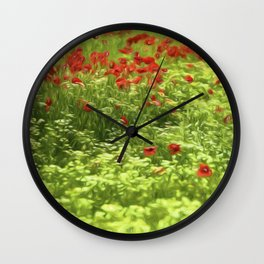 Poppyflower V Wall Clock