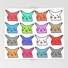 Color Mouse abstract surprised Throw Blanket