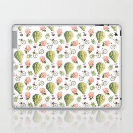 Bicycles Roses and Balloons Pattern Laptop & iPad Skin