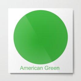 American Green Metal Print