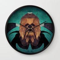 chewbacca Wall Clocks featuring Chewbacca by lazylaves