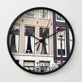 Amsterdam bikes Wall Clock