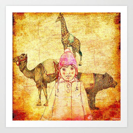 Shelsea au cirque Art Print