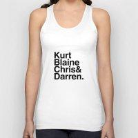 darren criss Tank Tops featuring KurtBlaineChris&Darren by Annie