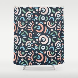 Funny doodle Shower Curtain