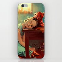 kindle iPhone & iPod Skins featuring When she was six by Cyril ROLANDO