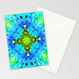 Blue Dynamic Energy Stationery Cards