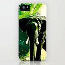 elephant jungle sunray va hg iPhone Case