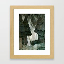 Pine Forest Clearing Framed Art Print