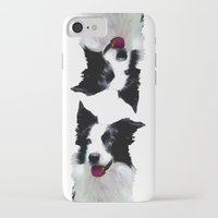border collie iPhone & iPod Cases featuring Border Collie by Albert Tjandra
