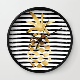 Pineapple & Stripes Wall Clock