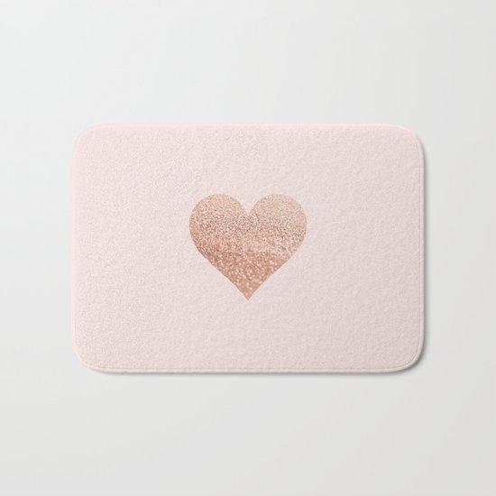 ROSEGOLD HEART BLUSH Bath Mat