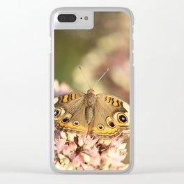 Buckeye Butterfly Macro Clear iPhone Case