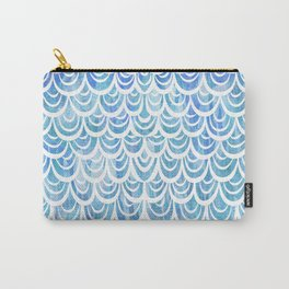 Watercolor Mermaid Aquamarine Carry-All Pouch