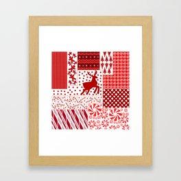 Holiday Red Quilt Design Framed Art Print