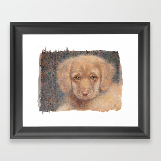 Retriever puppy Framed Art Print
